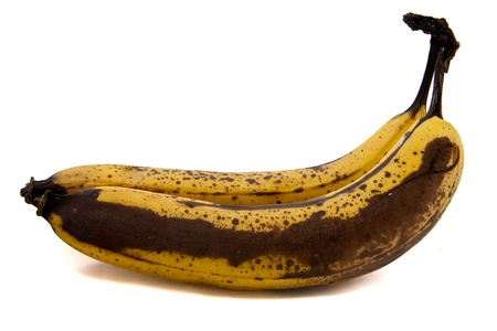 bad banana: Picture of two old bananas