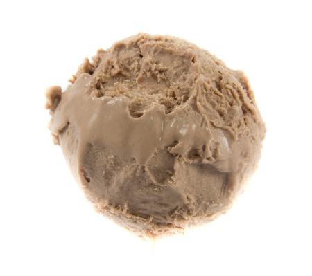 Picture of a a cold chocolate icecream ball Stock Photo - 12886834