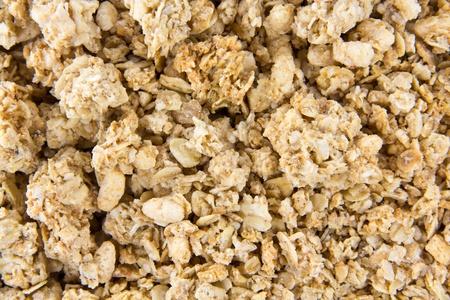 musli: Closeup picture of crunchy musli mixed together