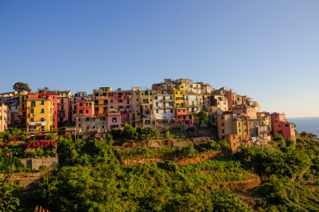 Closer picture of Corniglia in cinque terre, italy photo