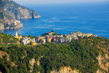 Picture of Corniglia in Cinque Terre from a distance photo