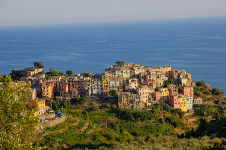 The village Corniglia in cinque terre, Italy photo