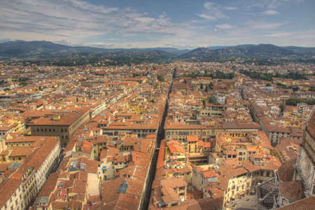 firenze: Overview over Firenze from the tower in the middle