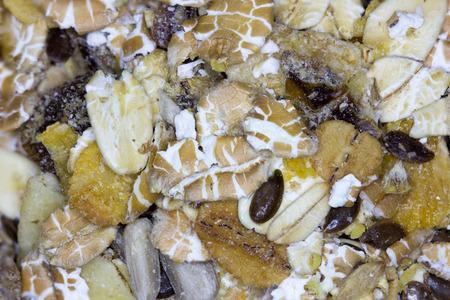musli: Close up picture of a musli mix Stock Photo