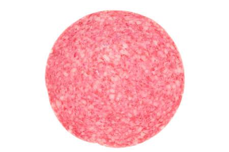 Picture of a single danish salami slice