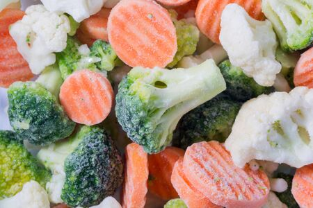Picture of a bunch of frozen vegetables