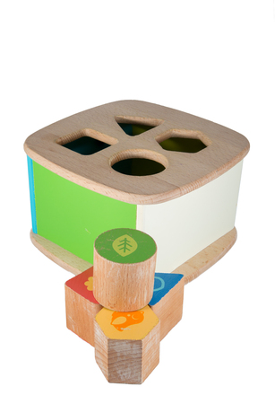 Picture of a baby wood block toy