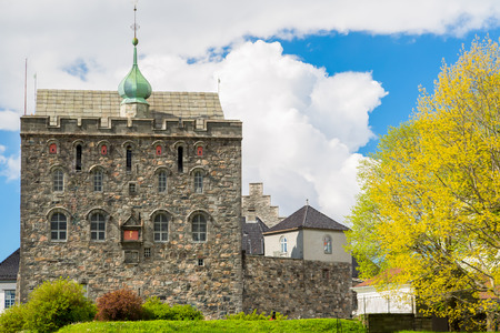 Picture of the famous rosenkrantztower in Bergen, built in the 1500 Stock Photo