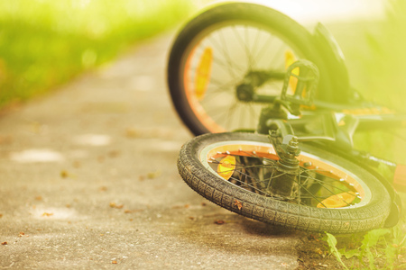 wheel of a children's bicycle