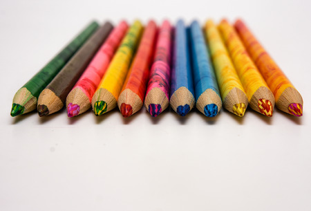 a lot of pencils of different colors