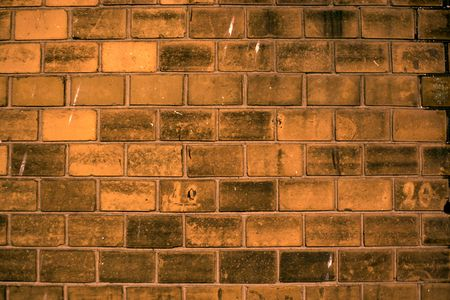 Brick wall in the twilight photo