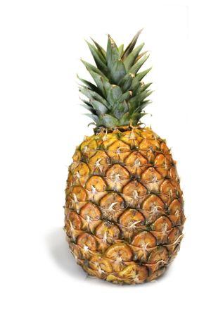 Pineapple over white photo
