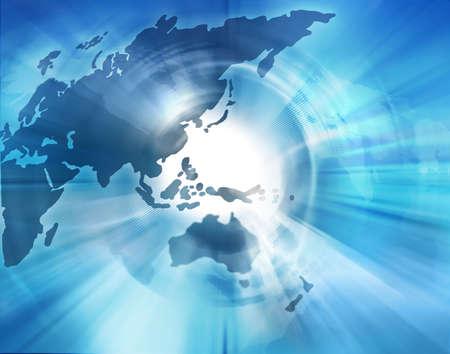 Carte du monde, meilleur concept de global business