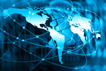 Beste Internet Concept van globale zaken uit de serie concepten