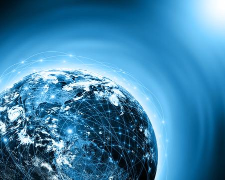 개념 시리즈에서 글로벌 비즈니스의 최고의 인터넷 개념 스톡 콘텐츠