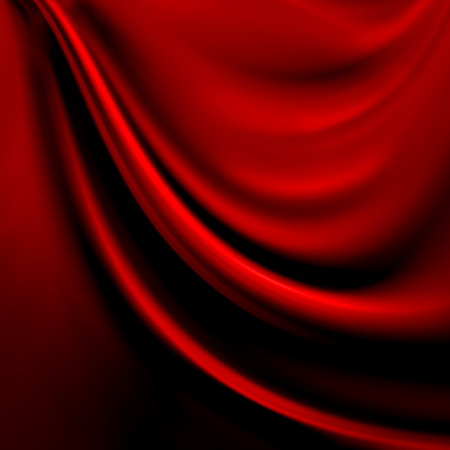 satiny cloth: Abstract red background cloth or liquid wave illustration of wavy folds of silk texture satin or velvet material or red luxurious Christmas background wallpaper design