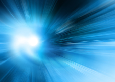 azul: Resumo fundo azul, belas linhas e borrão