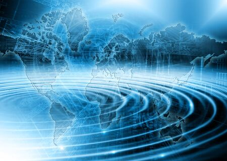 torrent: Abstract blue background. Technology background, from series best concept of global business