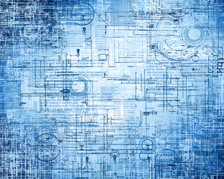 electronics abstract: Abstract blue background. Technology background, from series best concept of global business