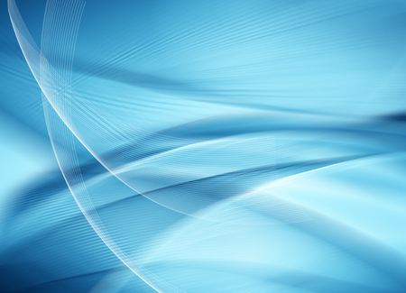 ray of light: Abstract blue background, beautiful lines and blur