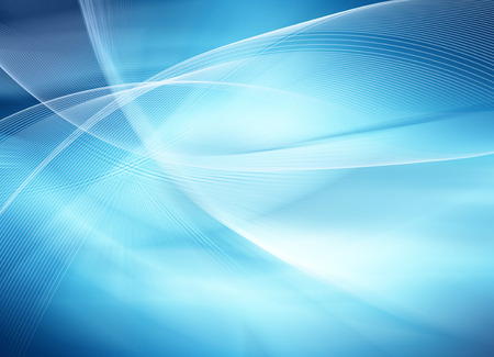 абстрактный: Абстрактный синий фон, красивые линии и размытия