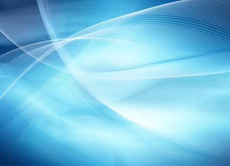 background: Résumé fond bleu, de belles lignes et flou