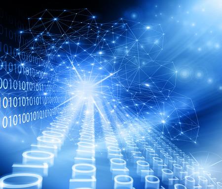Abstracte blauwe achtergrond. Technologie achtergrond, uit de serie het beste concept van wereldwijde business