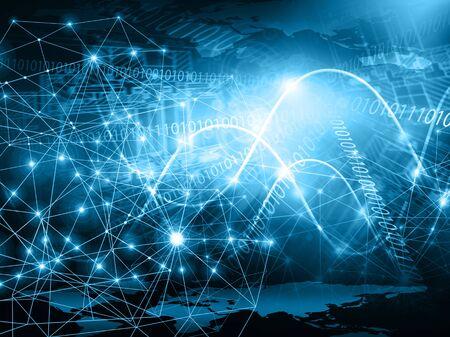 Best Internet Concept of global business.Technological background. Stock fotó