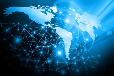 Beste internetconcept. Globe, gloeiende lijnen op technologische achtergrond.
