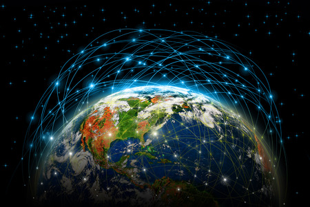 Best Internet Concept of global business from concepts series, connection symbols communication lines.   Banque d'images