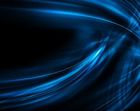 science background: Abstract blue background, beautiful lines and blur