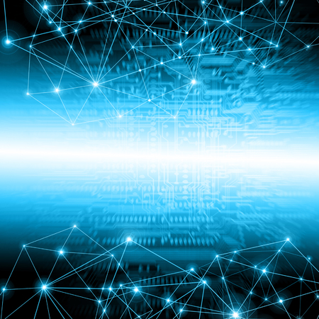 グローバル ビジネスの最高のインターネットの概念。技術的背景。