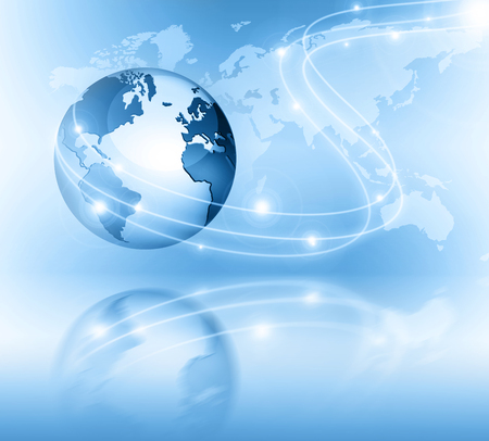 network concept: Best Internet Concept of global business.  Stock Photo