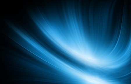 data flow: Abstract blue background, beautiful lines and blur