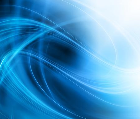 Abstrakter blauer Hintergrund, schöne Linien und Unschärfe