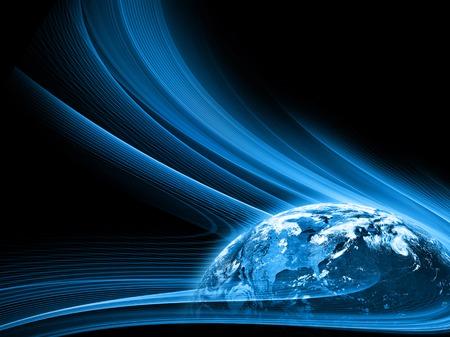 Najlepsza Koncepcja Internet globalnego biznesu z serii koncepcje, połączenie linii komunikacyjnych symbole. Elementy tego zdjęcia dostarczone przez NASA