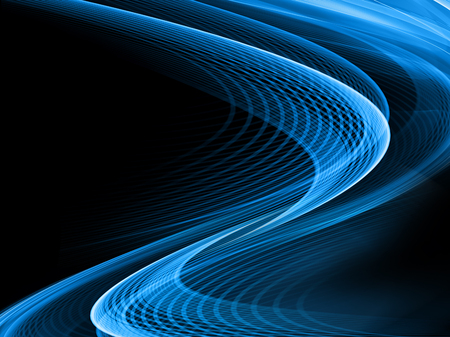 curved: Abstract blue background, beautiful lines and blur