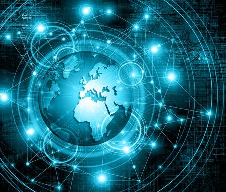 Meilleur Concept de fond business.Technological mondiale de l'Internet.