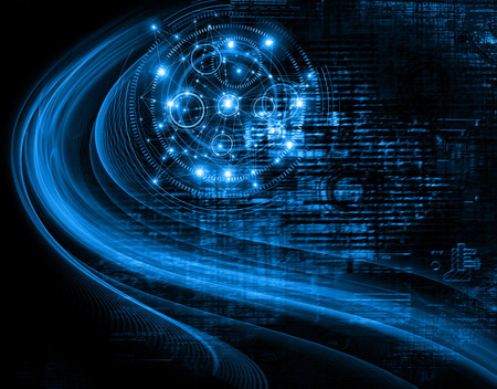 information age: Best Internet Concept of global business.Technological background. Electronics, WiFi, rays, symbols of the Internet, television, mobile and satellite communications