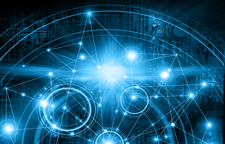 information age: Best Internet Concept of global business.Technological background. Stock Photo