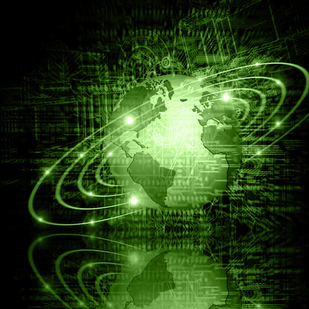 Best Internet Concept of global business.Technological background. Stock Photo