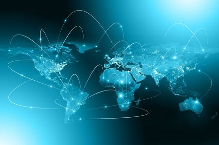 Best Internet Concept of global business from concepts series, connection symbols communication lines.