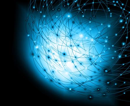 グローバル ビジネスの最高のインターネットの概念。技術的背景。インターネット、テレビ、携帯電話の Wi-Fi 記号や衛星通信を線します。 写真素材