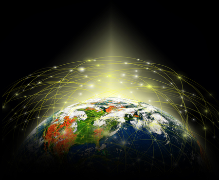 Earth from Space. Best Internet Concept of global business from concepts series. 3d illustration