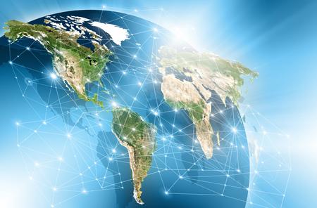 物理的な世界地図のイラスト。 写真素材
