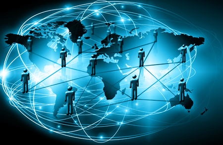 pace: Best Internet Concept of global business.Technological background, symbols WiFi, of the Internet, television, mobile and satellite communications