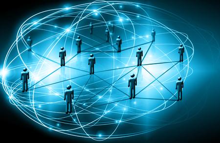 グローバル ビジネスの最高のインターネットの概念。衛星通信、記号 WiFi、インターネット、テレビ、携帯電話の技術的背景 写真素材