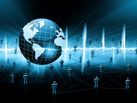 グローバル ビジネスの最高のインターネットの概念。グローブ、技術背景に光る線。 、光線、インターネット、3 D の図の記号 写真素材 - 82817172