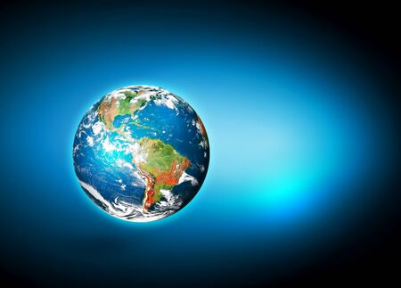 Earth from Space. Best Internet Concept of global business from concepts series. 3D illustration Stock Photo