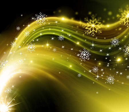 new: snowflakes and stars descending on background